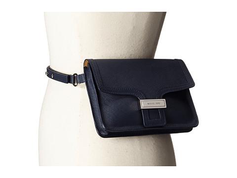 Accesorii Femei MICHAEL Michael Kors 13mm Saffiano Panel Belt Bag Navy