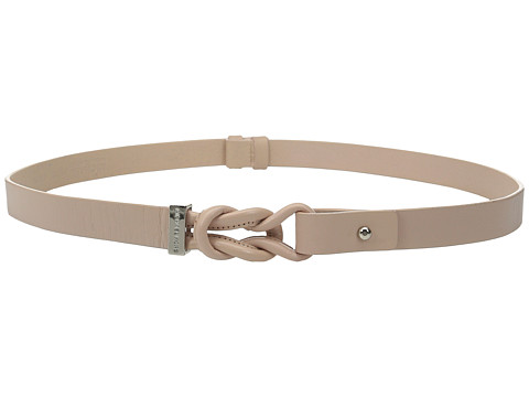 Accesorii Femei MICHAEL Michael Kors 20mm Veg Leather Belt with Knotted Front and Collar Stud Closure Pale Pink