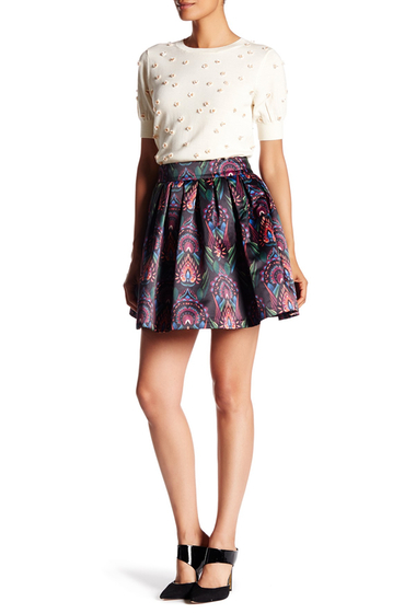 Imbracaminte Femei Alice Olivia Box Pleat Skirt OMBRE DECO