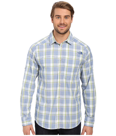 Imbracaminte Barbati The North Face Long Sleeve Traverse Plaid Shirt Limoges Blue Plaid (Prior Season)