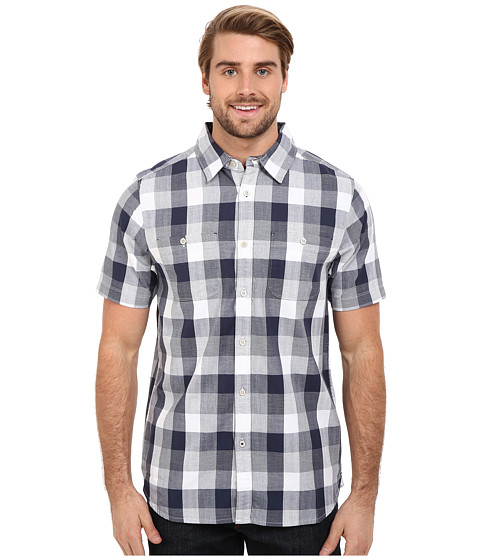 Imbracaminte Barbati The North Face Short Sleeve Shadow Gingham Shirt Cosmic Blue Plaid