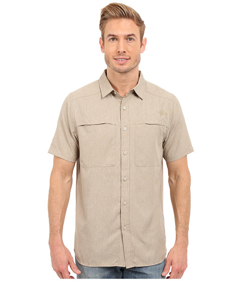 Imbracaminte Barbati The North Face Short Sleeve Traverse Shirt Dune Beige Heather
