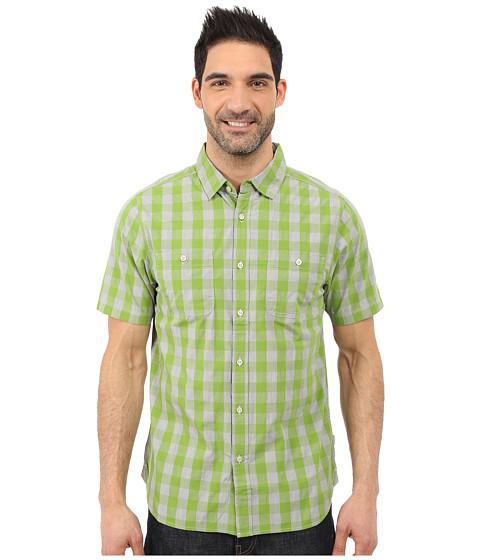 Imbracaminte Barbati The North Face Short Sleeve Marled Gingham Shirt Vibrant Green Plaid