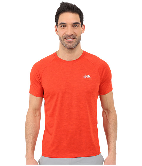 Imbracaminte Barbati The North Face Ambition Short Sleeve Shirt Pompeian Red Heather (Prior Season)