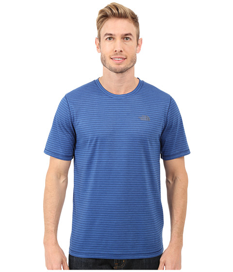 Imbracaminte Barbati The North Face Short Sleeve Crag Crew Limoges Blue Stripe