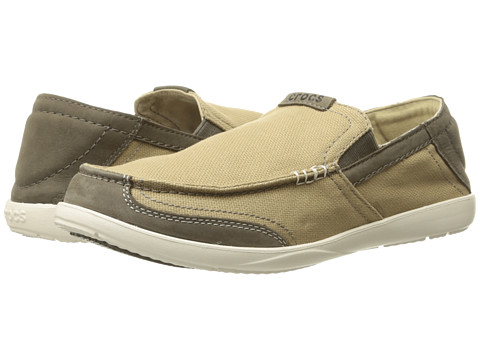 Incaltaminte Barbati Crocs Walu Luxe Canvas KhakiMushroom