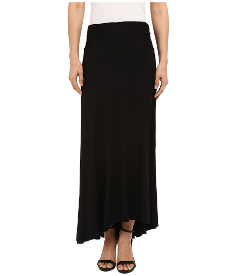 Imbracaminte Femei Three Dots High-Low Maxi Skirt Black