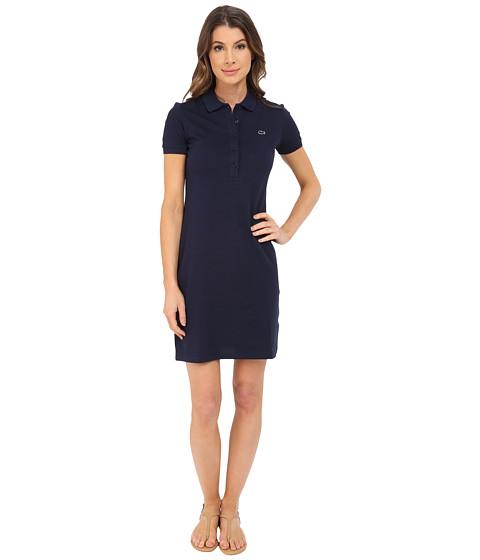 Imbracaminte Femei Lacoste Short Sleeve Pique Polo Dress Navy Blue