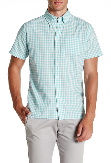 Imbracaminte Barbati Grayers Grange Shadow Gingham Regular Fit Shirt SEAFOAM