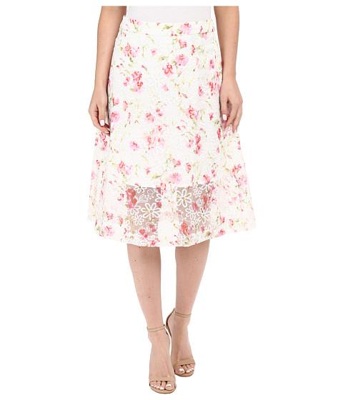 Imbracaminte Femei kensie Floral Organza Skirt KS5K6224 Candy Apple Combo