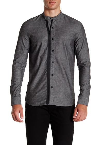 Imbracaminte Barbati Lindbergh Long Sleeve Zip Thru Placket Shirt Grey