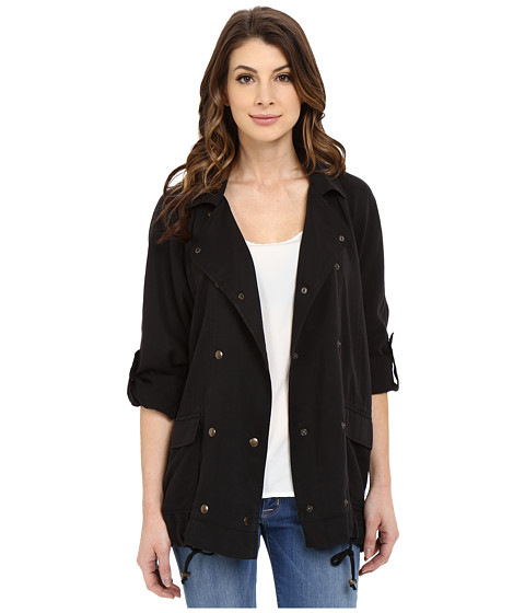Imbracaminte Femei Mavi Jeans Folded Sleeve Jacket Black