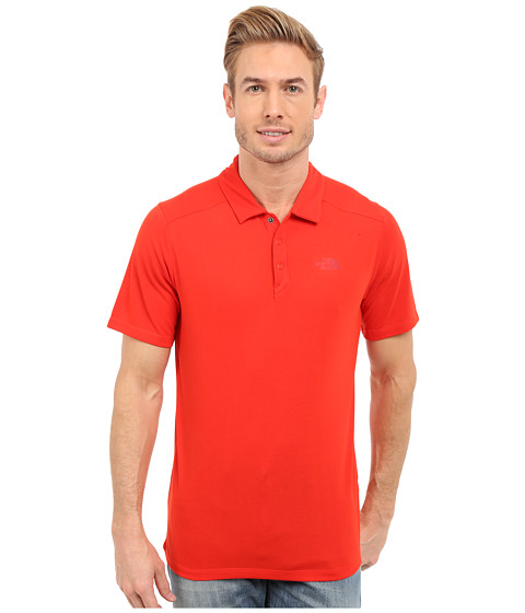 Imbracaminte Barbati The North Face Short Sleeve Crag Polo Fiery Red (Prior Season)