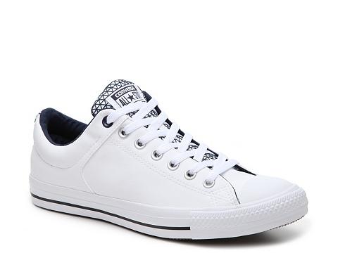 Incaltaminte Barbati Converse Chuck Taylor All Star Street Leather Sneaker - Mens WhiteNavy