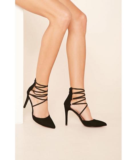 Incaltaminte Femei Forever21 Faux Suede Strappy Heels Black