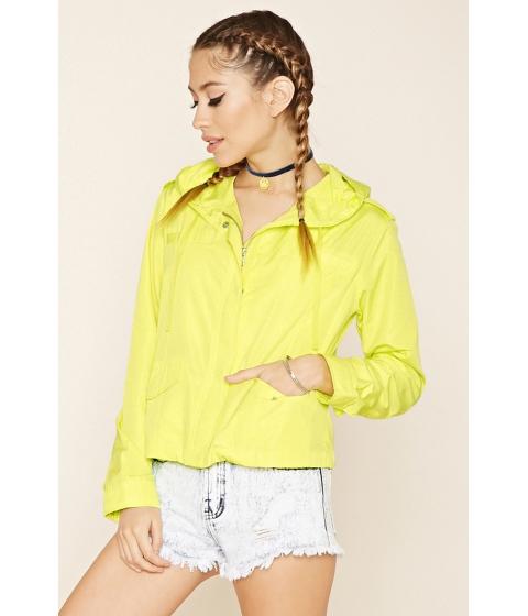 Imbracaminte Femei Forever21 Hooded Windbreaker Jacket Citron
