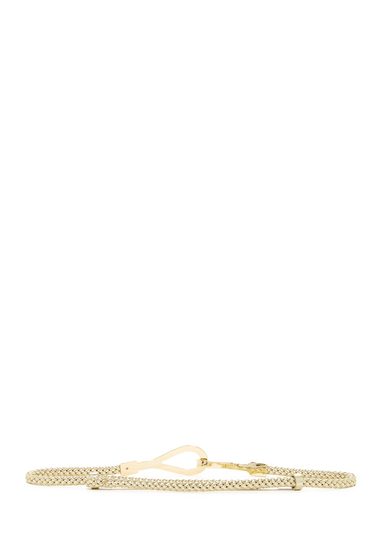 Accesorii Femei AK Anne Klein 10mm Braided Metallic Pan Belt GOLD