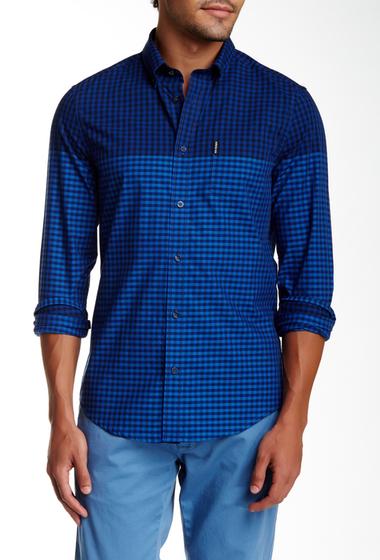 Imbracaminte Barbati Ben Sherman Long Sleeve Slim Fit Gingham Shirt B51B51NVYB