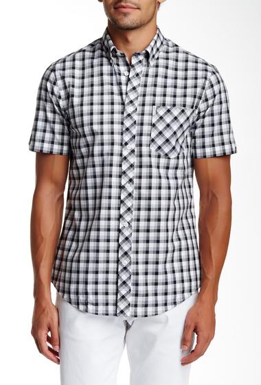 Imbracaminte Barbati Ben Sherman Short Sleeve Regular Fit Plaid Shirt B32JET BLA
