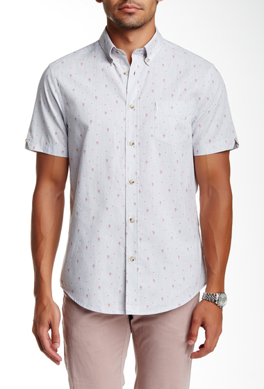 Imbracaminte Barbati Ben Sherman Short Sleeve Regular Fit Chambray Shirt 974LGT GRE