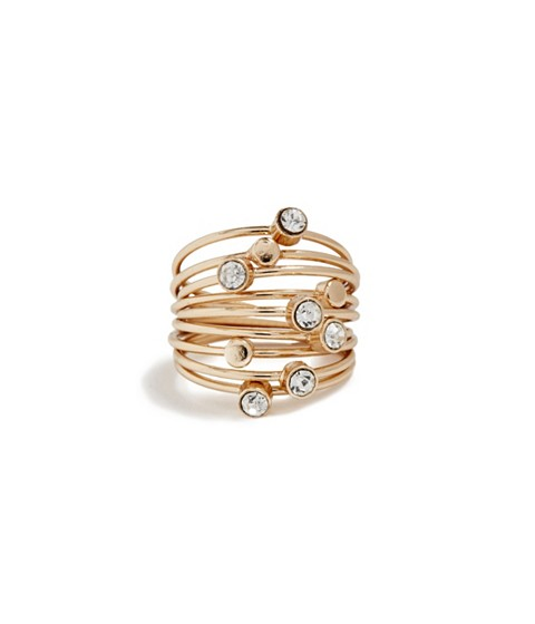 Bijuterii Femei GUESS Gold-Tone Thin Stacked Ring Set - Size 7 gold