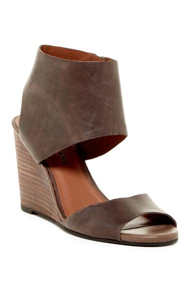 Incaltaminte Femei Lucky Brand Raisza Wedge Sandal BRINDLE LEATHER