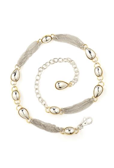 Accesorii Femei AK Anne Klein Multi-Chain Oval Tear Drop Belt NKLGOL