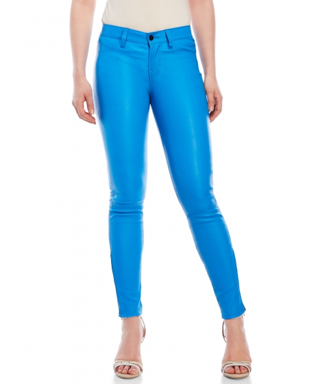 Imbracaminte Femei J Brand Mid Rise Stretch Leather Pants Break Water