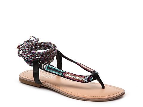 Incaltaminte Femei Madden Girl Sweetins Flat Sandal Black Multi