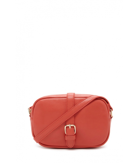 Imbracaminte Femei Forever21 Faux Leather Buckled Crossbody Coral