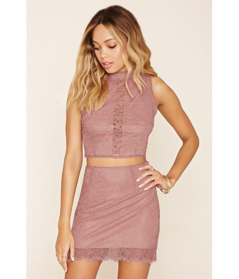 Imbracaminte Femei Forever21 Lace Mini Skirt Mauve