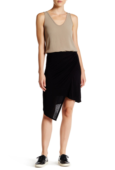 Imbracaminte Femei Michael Stars Asymmetrical Draped Wrap Skirt BLACK