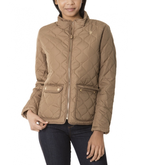 Imbracaminte Femei US Polo Assn QUILTED JACKET CARAMEL