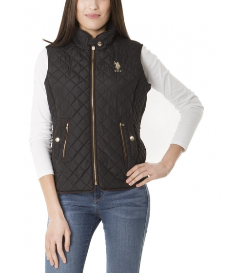 Imbracaminte Femei US Polo Assn QUILTED SIDE Panel VEST Black