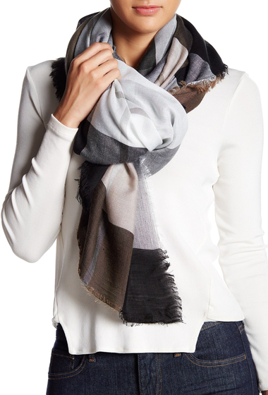 Accesorii Femei Collection Xiix Colorblock Plaid Square Scarf NEUTRAL