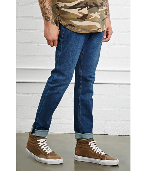 Imbracaminte Barbati Forever21 Straight-Leg Jeans Medium denim