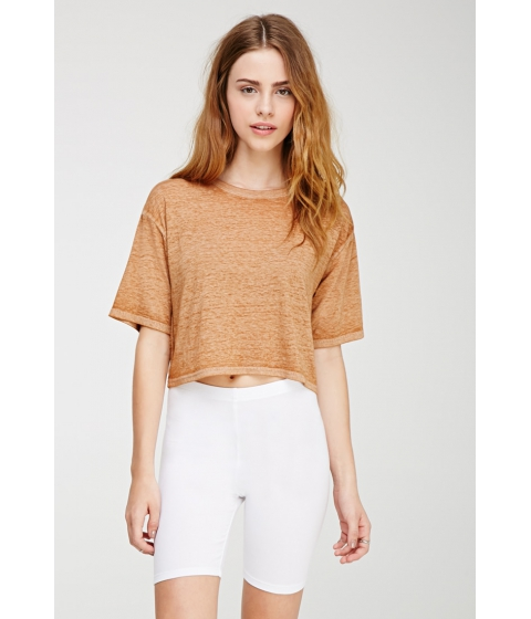 Imbracaminte Femei Forever21 Stretch-Knit Shorts White