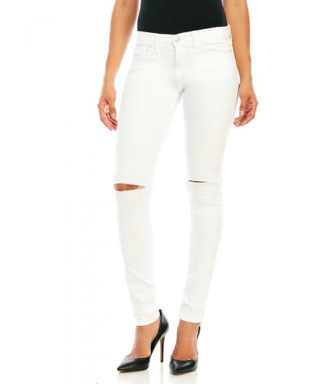 Imbracaminte Femei Flying Monkey Slit Knee Skinny Jeans White