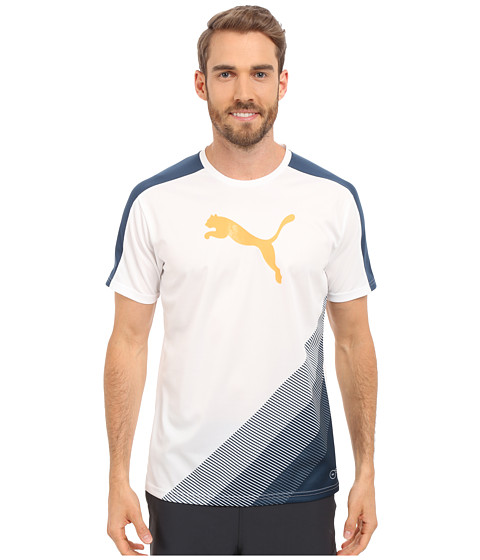 Imbracaminte Barbati PUMA IT evoTRG Cat Graphic Tee Atomic BlueSafety Yellow