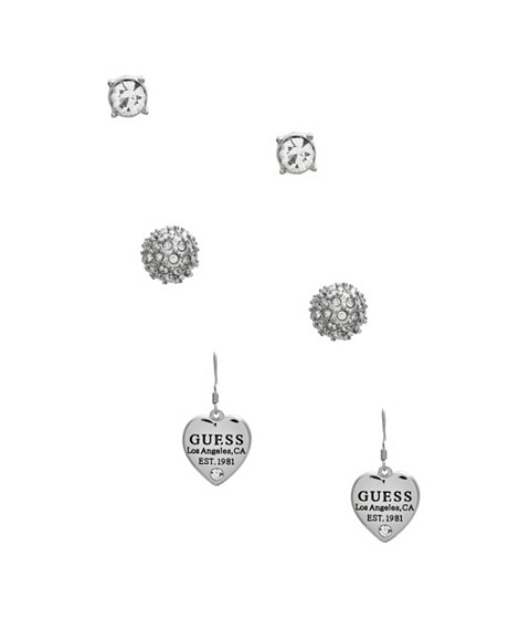 Bijuterii Femei GUESS Silver-Tone Earrings Set silver