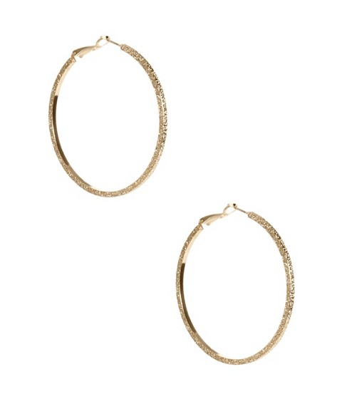 Bijuterii Femei GUESS Gold-Tone Stardust Hoop Earrings gold