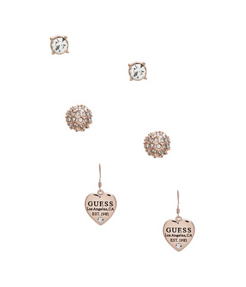 Bijuterii Femei GUESS Rose Gold-Tone Earring Set rose gold