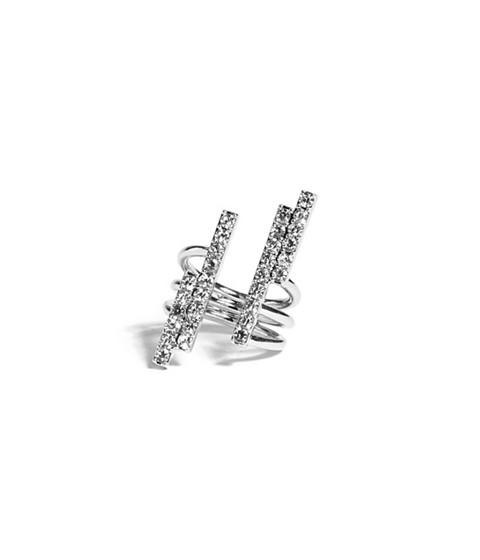 Bijuterii Femei GUESS Silver-Tone Open Bar Ring silver