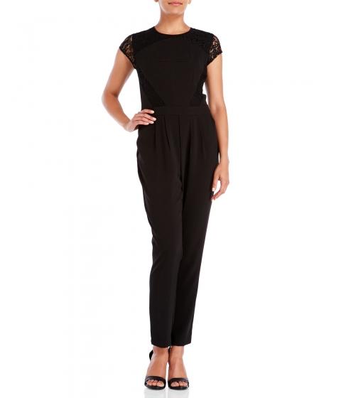 Imbracaminte Femei Laundry by Shelli Segal Cap Sleeve Lace Inset Jumpsuit Black