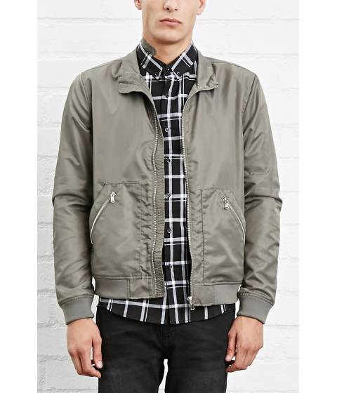Imbracaminte Barbati Forever21 Zip-Up Windbreaker Grey