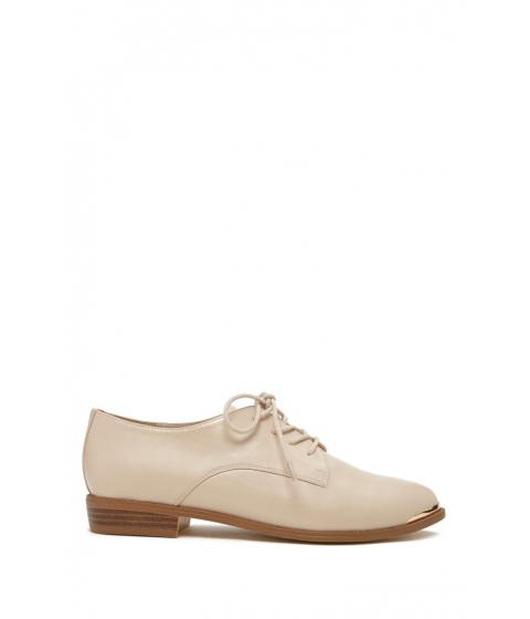 Incaltaminte Femei Forever21 Faux Leather Oxfords Nude