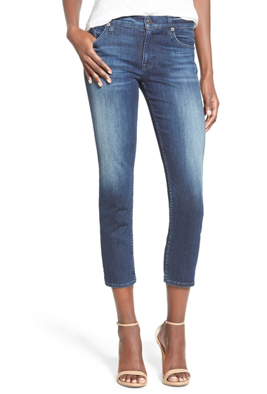 Imbracaminte Femei HUDSON Jeans Fallon Crop Skinny Jeans Canal CANAL