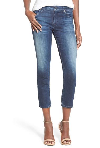 Imbracaminte Femei HUDSON Jeans Fallon Crop Skinny Jeans Canal CANAL
