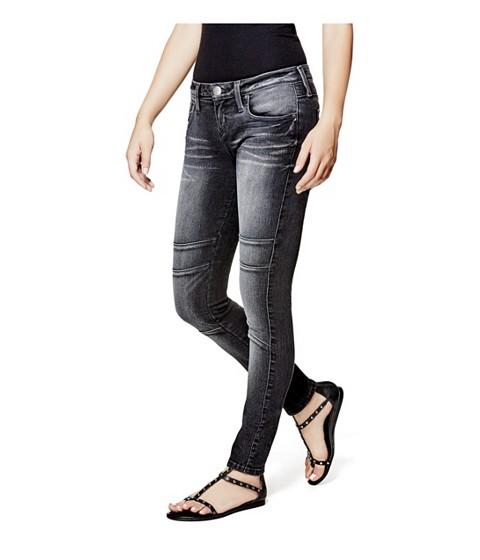 Imbracaminte Femei GUESS Jadelle Moto Super-Skinny Jeans dark wash