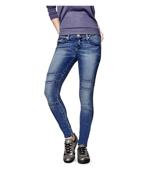 Imbracaminte Femei GUESS Jadelle Moto Super-Skinny Jeans medium wash